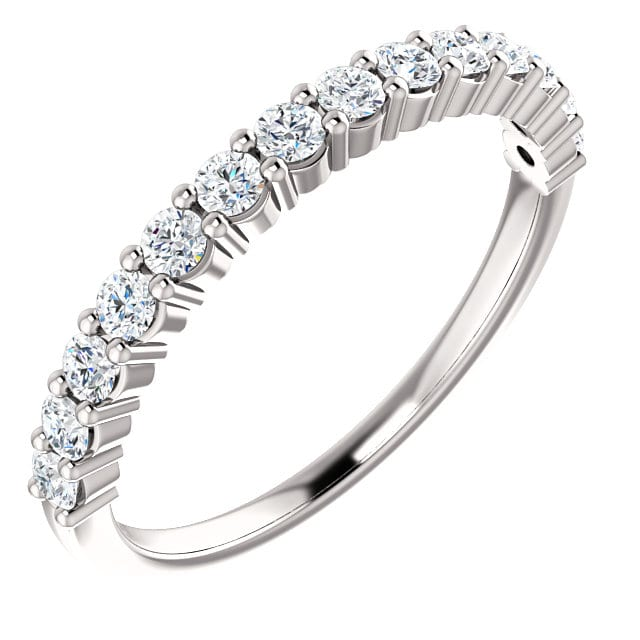 45475571d79 Shared Prong Diamond Wedding Ring in 14k White Gold (1/2 ct. tw.)