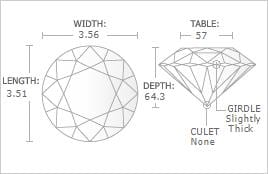 0.18 - Carat Round Cut Diamond