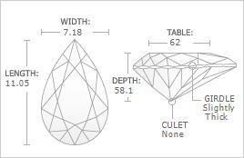 2.01 - Carat Pear Cut Diamond
